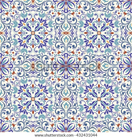 Seamless turkish  colorful pattern. Endless pattern can be used for ceramic tile, wallpaper, linoleum, web page background.