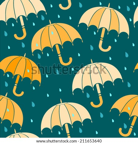 seamless umbrella pattern