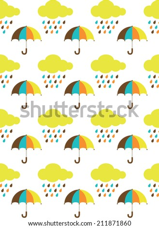 seamless umbrella pattern design. vector illustration