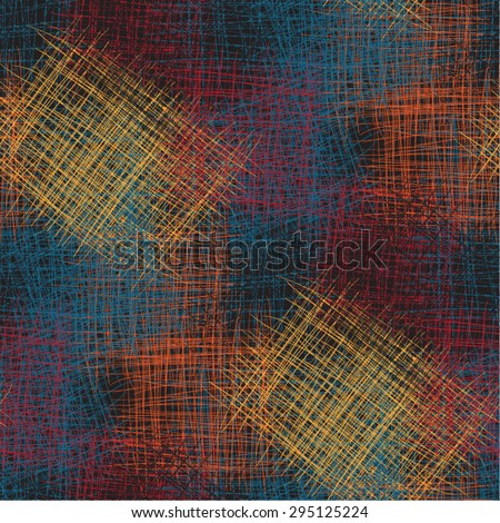 Seamless vector abstract  colorful sketch looking pattern design on black background can be as as element of design for backgrounds restaurant menu cover design6 backdrops, cd cover wallpaper  - stock vector