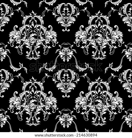 Seamless vector background. Baroque pattern  - stock vector
