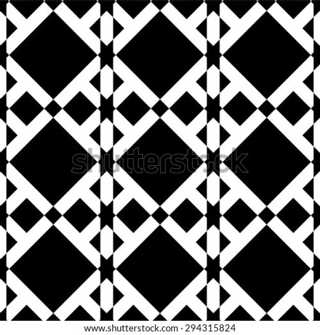 Seamless vector background. Black and white texture. Abstract pattern. - stock vector