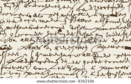 Seamless vector background created on base of the handwritten text - stock vector
