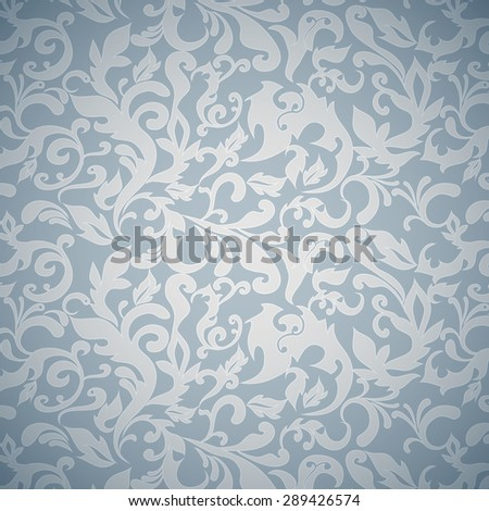 Seamless vector background floral - stock vector
