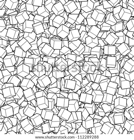 Seamless vector background with a lot of cubes - stock vector