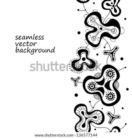 seamless vector background with abstract elements - stock vector