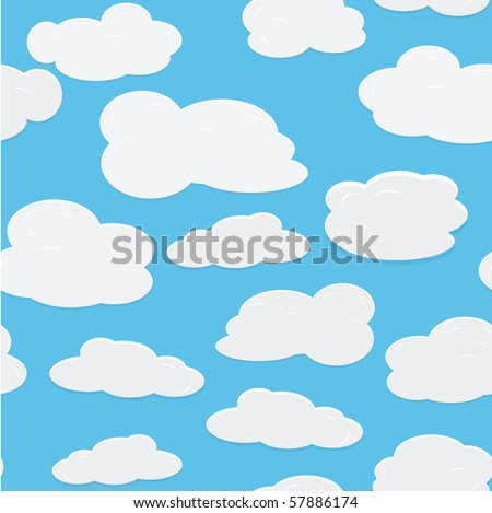 seamless vector background with sky