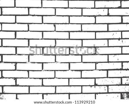 Seamless vector brick wall - stock vector