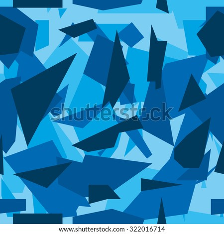 Seamless vector camouflage series - Blue