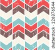 Seamless vector chevron pattern. Scratched chevron background. - stock photo