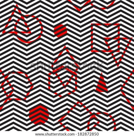 Seamless vector chevron shape geometric pattern background - stock vector