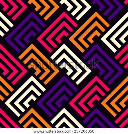 Seamless vector color geometric pattern background - stock vector