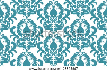 Seamless vector damask background