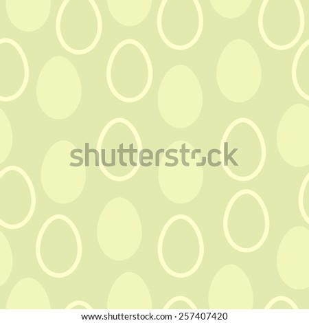 Seamless vector eastern pattern with eggs - stock vector