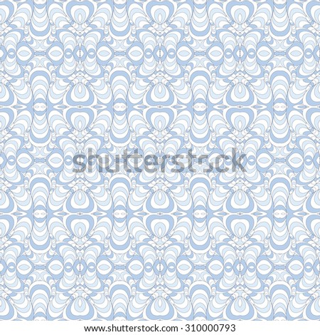Seamless vector ethnic pattern, pattern can be used for wallpaper, pattern fills, surface textures . Blue and white