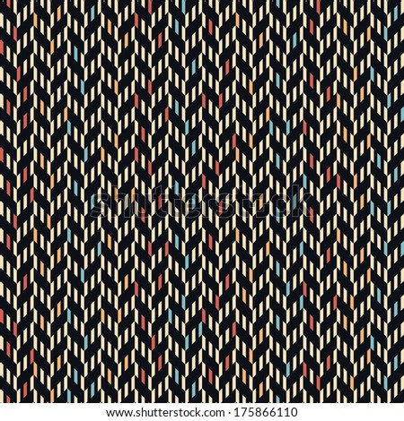 Seamless vector ethnic zigzag pattern background