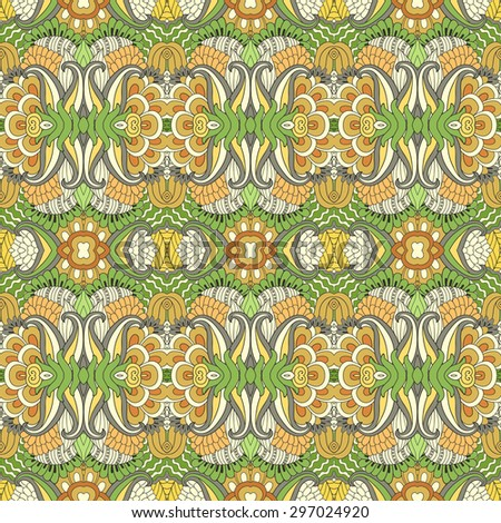Seamless vector floral  pattern, pattern can be used for wallpaper, pattern fills, surface textures