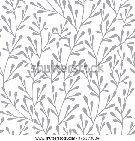 Seamless vector floral pattern. Retro pattern. Ornament can be used as wallpaper. EPS10 vector illustration.  - stock vector