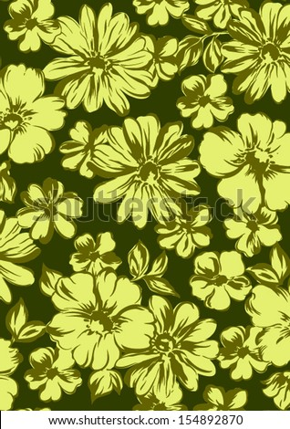 seamless  vector floral seamless pattern. - stock vector