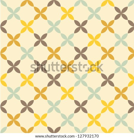 Seamless vector flower pattern background - stock vector