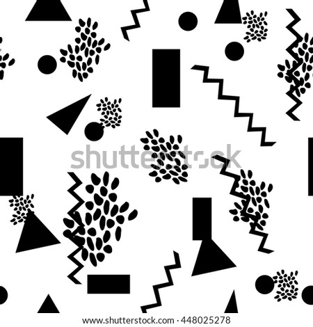 Seamless vector geometric pattern. fashionable texture. for wallpaper, textiles, fabrics, packaging, websites. retro 80s style