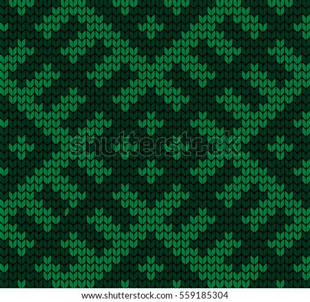 Seamless vector geometric pattern knitted