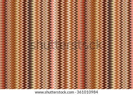 Seamless vector geometric pattern with Zig zag stripes.  pastel stripes background art - stock vector