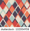 Seamless vector geometric rhombus color pattern background - stock photo