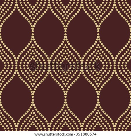 Seamless vector golden ornament. Modern stylish geometric pattern with repeating elements