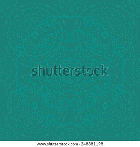 Seamless vector indian green pattern - stock vector