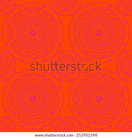 Seamless vector indian pattern - stock vector