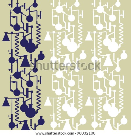 seamless vector lab banner pattern - stock vector