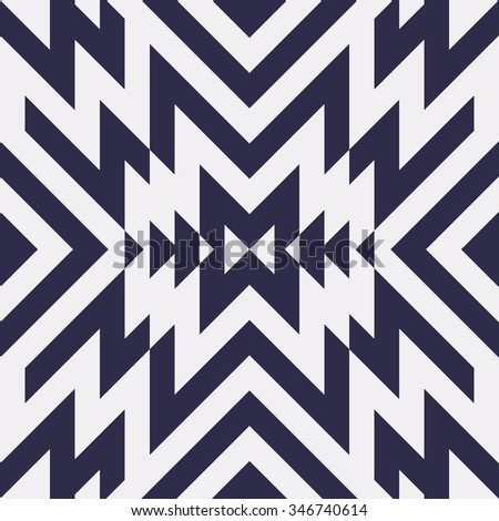 Seamless Vector Maze Pattern for Textile Design. Stylish Black and White Modern Art Background. Psychedelic Stripes Mix - stock vector
