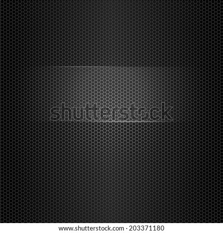 Seamless vector metal texture with highlighted frame for text