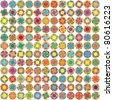 Seamless vector multicolor bright stars background - stock vector