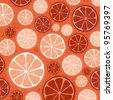 seamless vector of orange pattern and background - stock vector