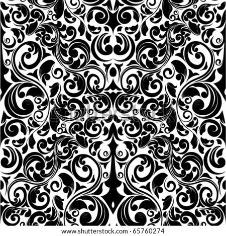 seamless vector ornament - stock vector