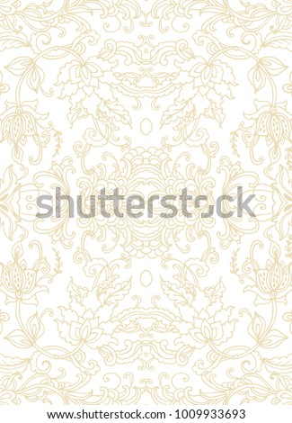 Seamless vector ornamental pattern