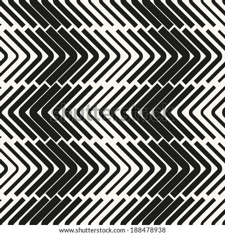 Seamless vector pattern. Abstract geometric background. Rhythmic structure of herringbone - stock vector