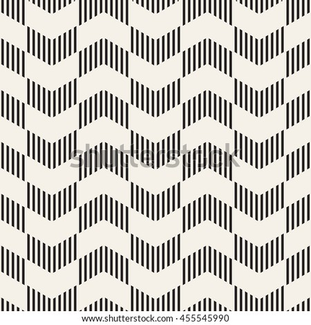 Seamless vector pattern. Abstract geometric background. Rhythmic zigzag structure. Monochrome stylish texture with chevron.