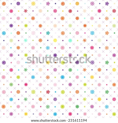 Seamless vector pattern: Christmas garland on a white background art - stock vector