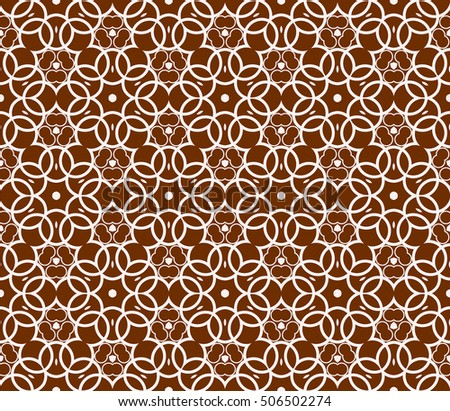 seamless vector pattern. floral ornament. interior decoration, wallpaper, presentation, fashion design. chocolate color