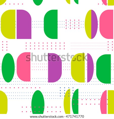 Seamless vector pattern. Geometric vintage multicolored background.