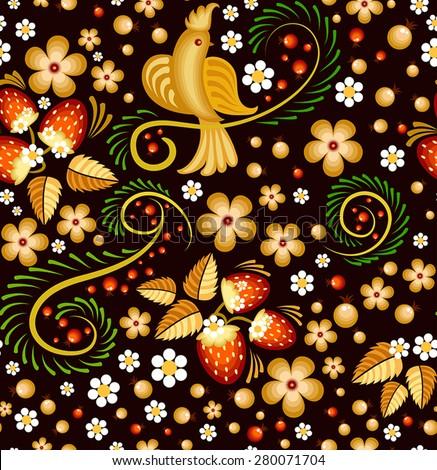 Russian Bird Russian Painting With Bird