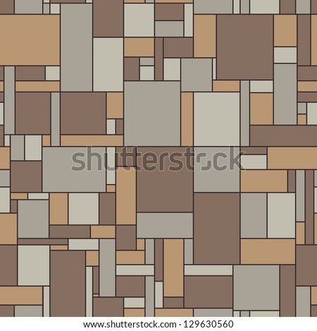 Seamless vector pattern of the surface of the linoleum in vintage colors - stock vector