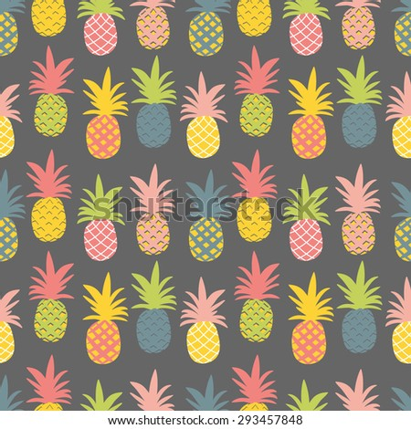 Pineapple pattern background - photo#25