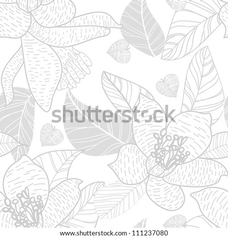 Seamless vector pattern with bight flowers
