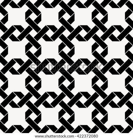 Seamless vector pattern with chained squares, celtic background, vector illustration - stock vector