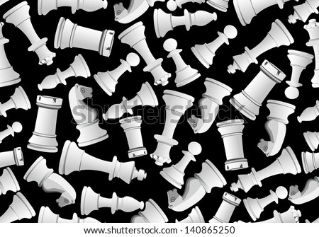 Seamless vector pattern with chess - stock vector