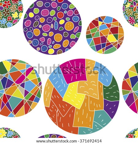 Seamless vector pattern with colorful balls - stock vector
